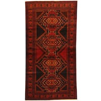 Herat Oriental Afghan Balouchi Hand-knotted Wool Area Rug - 3'6 x 6'7