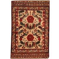 Handmade Herat Oriental Afghan Balouchi Wool Area Rug - 4' x 6' (Afghanistan)