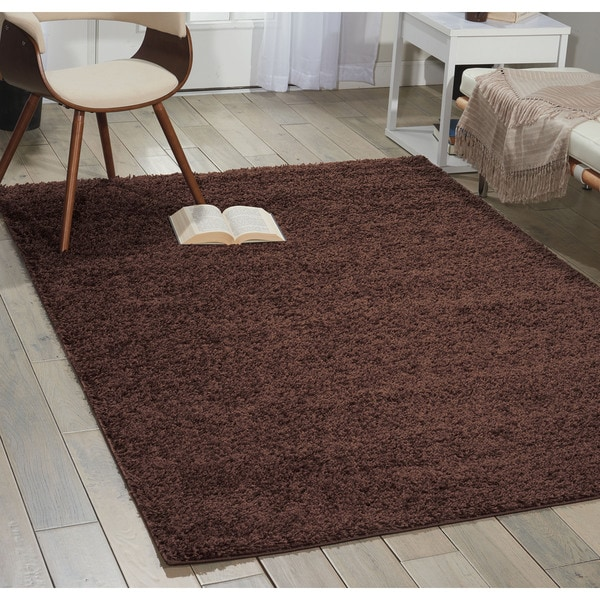 Nourison Bonita Brown Shag Area Rug