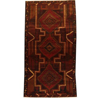 Herat Oriental Afghan Balouchi Hand-knotted Wool Area Rug (3'4 x 6'2)