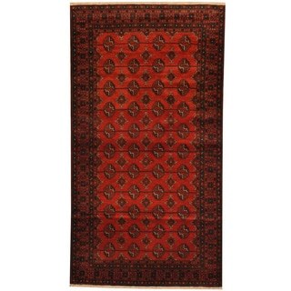 Herat Oriental Afghan Balouchi Hand-knotted Wool Area Rug (3'9 x 6'10)