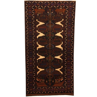 Herat Oriental Afghan Balouchi Hand-knotted Wool Area Rug (3'4 x 6'5)