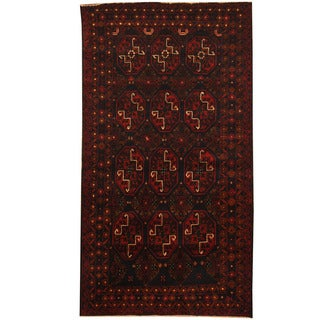 Herat Oriental Afghan Balouchi Hand-knotted Wool Area Rug (3'9 x 6'9)