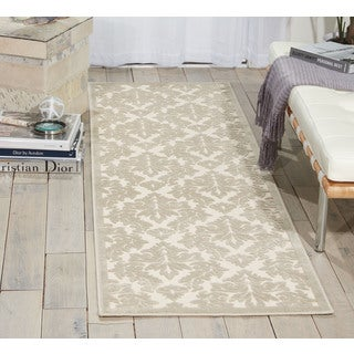Nourison Ultima Ivory/Silver Area Rug (2'2 x 7')