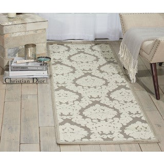 Nourison Ultima Silver/Ivory Area Rug (2'2 x 7')