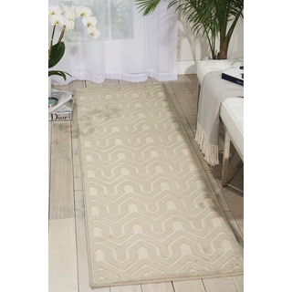 Nourison Ultima Ivory/Light Grey Area Rug (2'2 x 7')