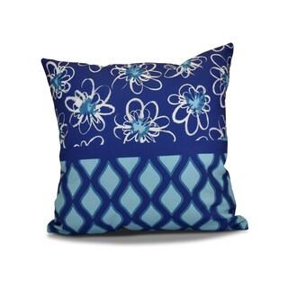 16 x 16-inch, Penelope Trellis, Geometric Holiday Print Outdoor Pillow