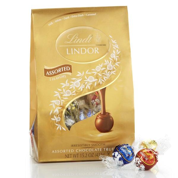 Lindt Lindor Assorted Chocolate Truffles 15 2-ounce Platinum Bag