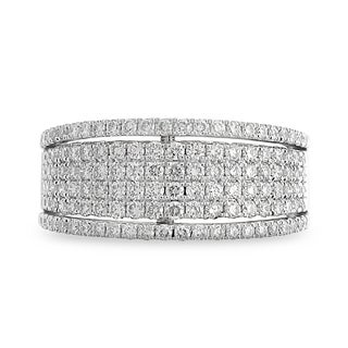Azaro 14k White Gold 1ct TDW 6-row Round-cut Diamond Halfway Band (H-I, SI1-SI2)