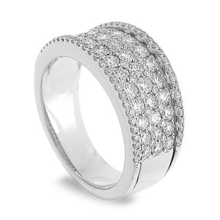 Azaro 14k White Gold 1 1/2ct TDW Round-cut Diamond Ring (H-I, SI1-SI2)