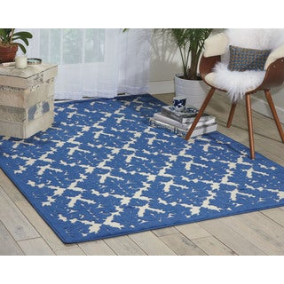 Nourison Ultima Ivory/Blue Area Rug (5'3 x 7'3)