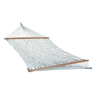 cotton rope   white double hammock  5 u0027 x     cotton hammocks  u0026 porch swings for less   overstock    rh   overstock