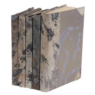 Metallic Hide Books - Grey, S/5