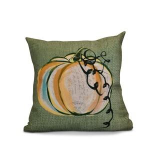 16 x 16-inch, Pumpkin Fest, Geometric Print Outdoor Pillow