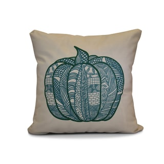 16 x 16-inch, Pumpkin Patch, Geometric Print Outdoor Pillow