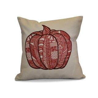 16 x 16-inch, Pumpkin Patch, Geometric Print Pillow