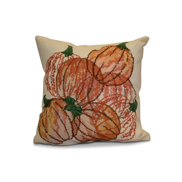 16 x 16-inch, Pumpkin Pile, Geometric Print Pillow