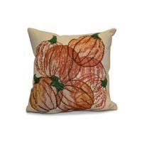 16 x 16-inch, Pumpkin Pile, Geometric Print Pillow