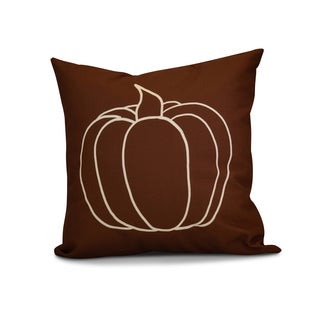 16 x 16-inch, Pumpkin Pie, Geometric Print Pillow