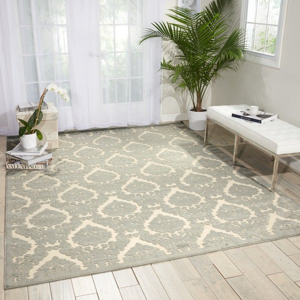 Nourison Ultima Ivory/Green Area Rug (3'6 x 5'6)