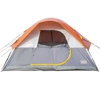 TimberRidge 3 Seasons D-Shape Door Family Camping Dome Tent with Carry Bag.