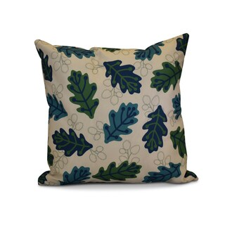 16 x 16-inch, Retro Leaves, Floral Print Outdoor Pillow