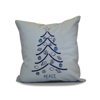 16 x 16-inch, Sand Tree, Holiday Geometric Print Pillow