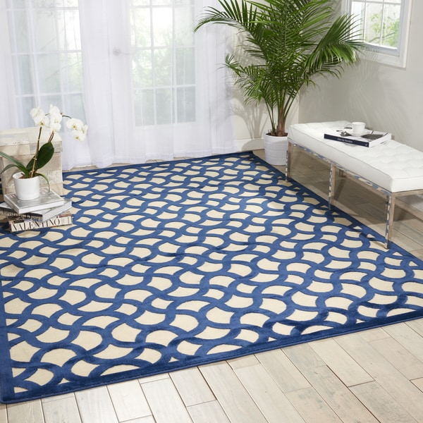 Nourison Ultima Ivory/Blue Area Rug (2'6 x 4')