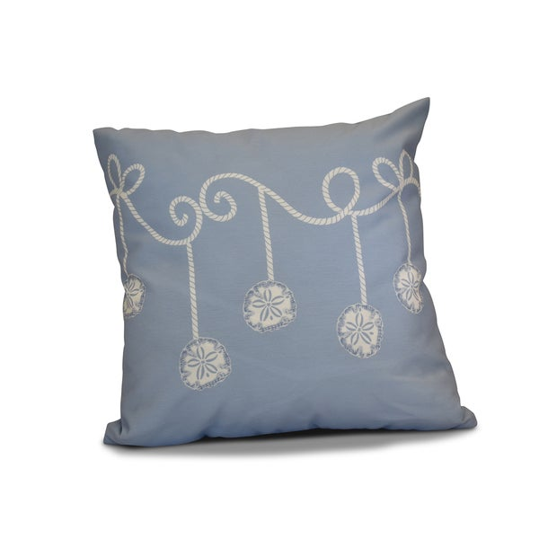 16 x 16-inch, Sanddollar Ornaments, Holiday Geometric Print Pillow