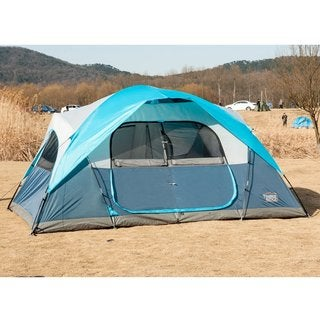 TimberRidge Large 2-room Family Tent for Camping with Carry Bag