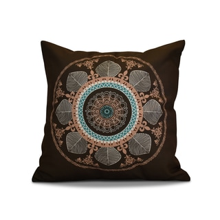 16 x 16-inch, Stained Glass, Geometric Print Outdoor Pillow