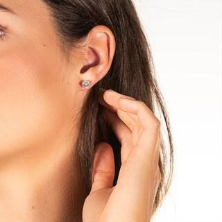 Moissanite by Charles & Colvard 14k White Gold 3.00 TGW Solitaire Stud Earrings