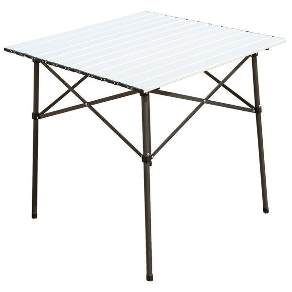 TimberRidge Roll-Up White Aluminum Camping Folding Table