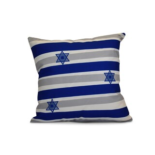 16 x 16-inch, Star Stripes, Stripe Holiday Print Outdoor Pillow