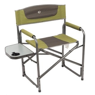 TimberRidge Portal Aluminum Ultra-large Portable Director's Folding Chair with Side Table