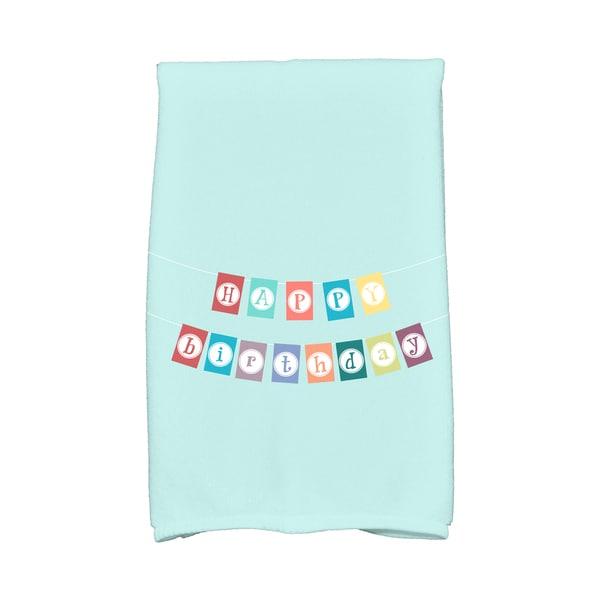 16 x 25-inch, Happy Birthday, Holiday Word Print Kitchen Towel