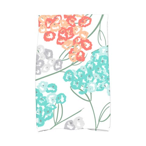 16 x 25-inch, Hydrangeas, Floral Print Kitchen Towel