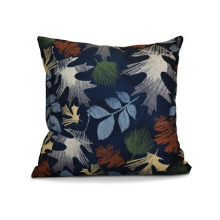 16 x 16-inch, Watercolor Leaves, Floral Print Pillow