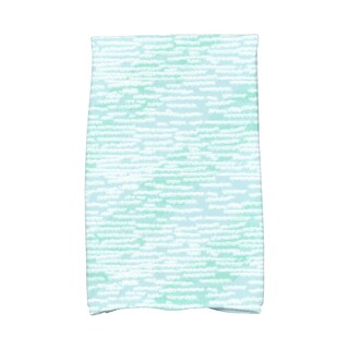 16 x 25-inch, Marled Knit Stripe, Geometric Print Kitchen Towel