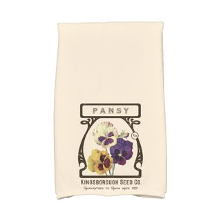16 x 25-inch, Pansy, Floral Print Kitchen Towel (3 options available)