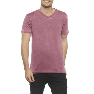 Threadfast Men's Cotton/Polyster Burnout V-neck Short-sleeved Tee