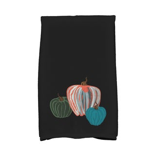 16 x 25-inch, Pumpkin Spice, Holiday Geometric Print Kitchen Towel