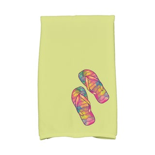 16 x 25-inch, Rainbow Flip Flops, Geometric Print Kitchen Towel