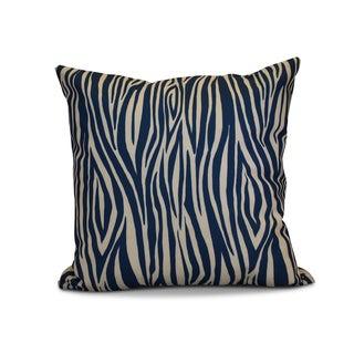 16 x 16-inch, Wood Stripe, Geometric Print Outdoor Pillow