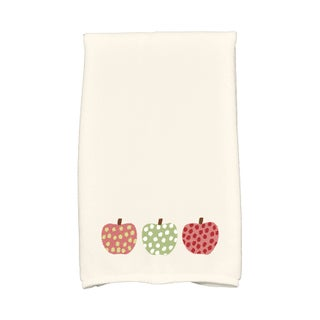 16 x 25-inch, 3 Little Pumpkins, Holiday Geometric Print Kitchen Towel (3 options available)