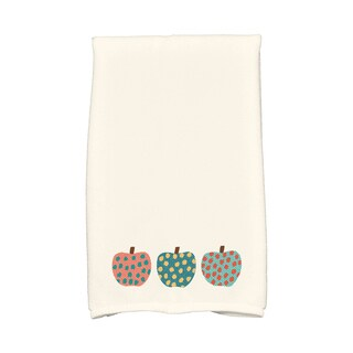 16 x 25-inch, 3 Little Pumpkins, Holiday Geometric Print Kitchen Towel