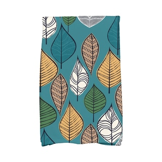 16 x 25-inch, Autumn Leaves, Floral Print Kitchen Towel