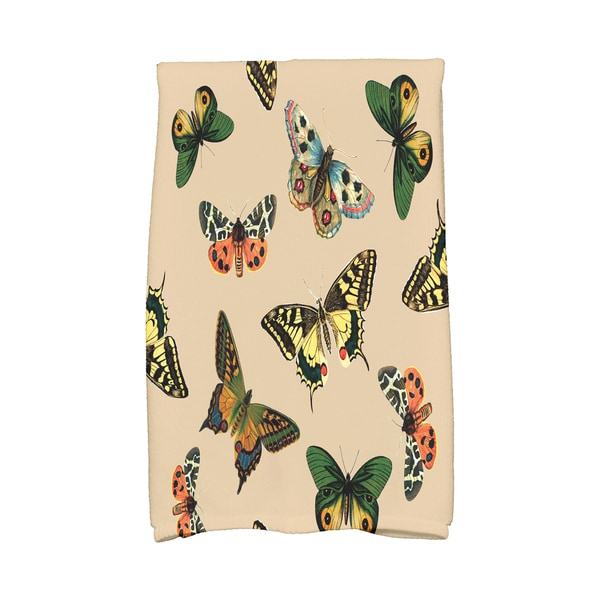 16 x 25-inch, Butterflies, Animal Print Kitchen Towel