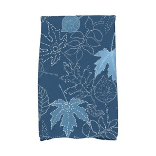 16 x 25-inch, Dotted Leaves, Floral Print Kitchen Towel