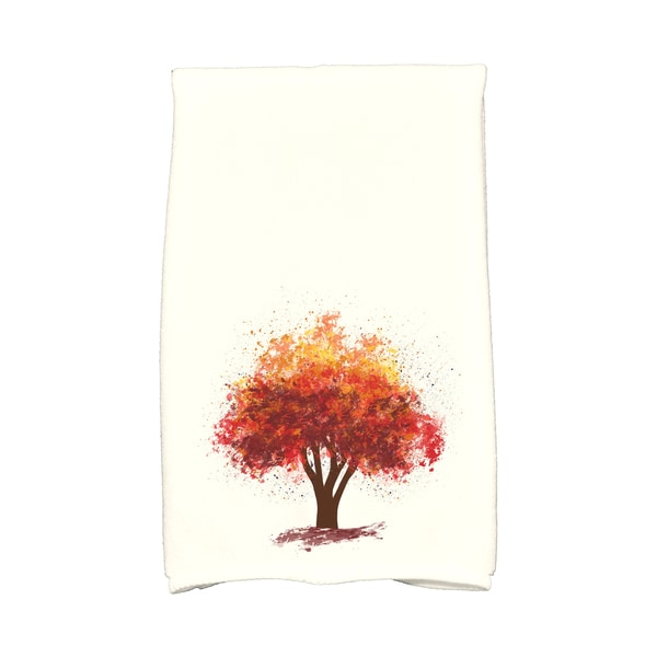 16 x 25-inch, Fall Bounty, Floral Print Kitchen Towel